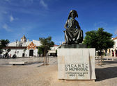 monument  Henry the Navigator at square in  Lagos, Algarve, Por — Stock Photo