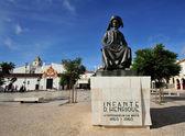 monument  Henry the Navigator at square in  Lagos, Algarve, Por — Stock Photo