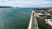 Waterfront from the top of the Monument to the Discoveries, Lisb — Foto Stock