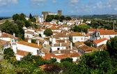 Město v hradební zdi, obidos, Portugalsko — Stock fotografie