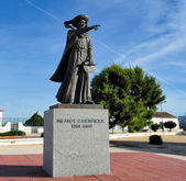 monument  Henry the Navigator, Sagres, Portugal — Stock Photo