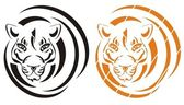Tiger symbol — Stockvektor