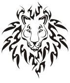 Tribal lion head, vector — Stock Vector