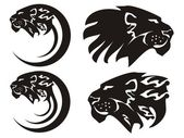 Tribal lion symbols, vector — Stock Vector