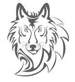 Wolf symbol — Stock Vector