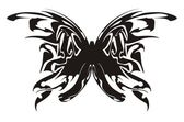 Butterfly tribal tattoo — Stock Vector