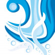 Elegant abstract water wavy background, vector - Stock Vector