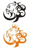 Lion King, vector lion symbols — Stock Vector