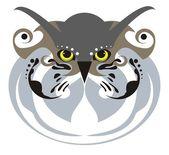 猫头鹰面具 — 图库矢量图片