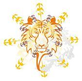 Tiger graffiti — Stock Vector
