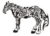 Dark horse — Stock Vector