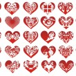 Thirty heart, vector — Stock Vector