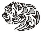 Tribal dog symbol — Stock Vector