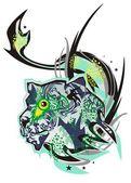 Monster lion — Stock Vector