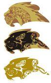 Ornate lion head — Stock Vector