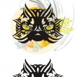 Tribal black cat — Stock Vector