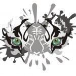 ������, ������: White tiger eyes splashes