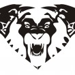 Lion emblem — Stock Vector