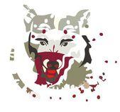 Siberian Husky — Stok Vektör