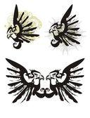 Simboli di aquile — Vettoriale Stock