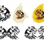 Tiger head symbols in tribal style — Stock Vector #46497725