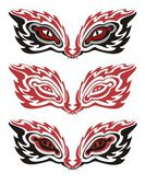 Tribal flaming eyes — Stock Vector