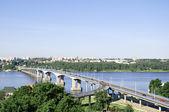 Bridge over the river Volga in Kostroma, Russia — Stock Photo