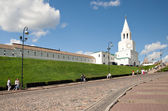 Spasskaya Tower of Kazan Kremlin, Russia — Stock Photo