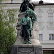 Presern statue in Ljubljana, Slovenia — Stock Photo #23542475