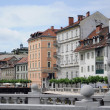 Royalty-Free Stock Photo: Embankment of the river Ljubljanica in Ljubljana, Slovenia