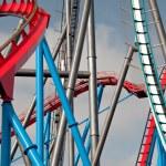 Roller coaster in Port Aventura, Spain — Stock Photo #25642373