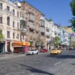 Постер, плакат: The city center of Kiev Lev Tolstoy street Ukraine