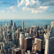 Chicago city view from Willis Tower, USA — Stock Photo