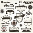 Stock Vector: Premium Quality Labels