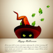 Halloween black cat - EPS10 Compatibility Required - Stockvectorbeeld