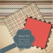 Stok Vektör: Cute scrapbook elements