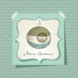 Christmas card - with Christmas ball - Stock Vector
