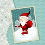 Vintage X-mas card with Santa Claus — Stock Vector