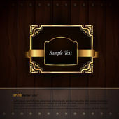 Golden Royal Labels - Elegant Presentation — Stock Vector