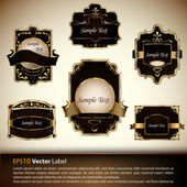 Vector set of luxury labels — Stock Vector