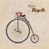 Vintage Retro Bicycle — Stock Vector