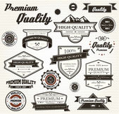Premium Quality Labels — Stock Vector