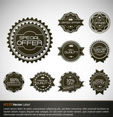 Premium Quality Labels with retro design — Stock Vector