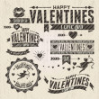 Stock Vector: Valentine s Day vintage design elements