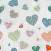 Retro Pattern with Colorful Hearts — Stock Vector