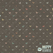 Cute valentines day background with heart — Stockvector