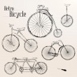 Vintage bicycle set — Stock Vector