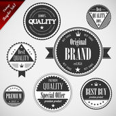 Premium Quality labels with retro vintage design — Stock Vector