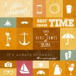 Royalty-Free Stock Vector Image: Vector summer icons