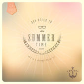 Say Hello to Summer — Stock Vector